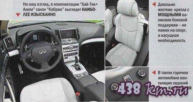 Infiniti G37 кабриолет