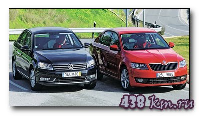 тест VW Passat и Skoda Octavia